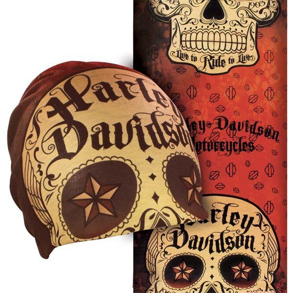 "HD Harley Davidson MULTIFUNCTIONAL HEADWEAR ""Sugar Skull"""