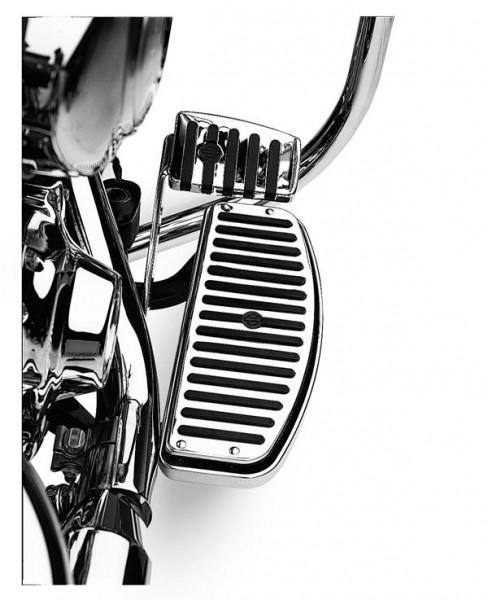 Harley Davidson D.Chrome & Rubber Trittbretteinsätze 50176-95