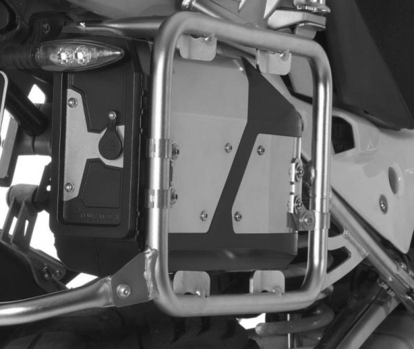 Werkzeugbox für original Edelstahl Kofferträger BMW R1200GS/R1200GS Adventure