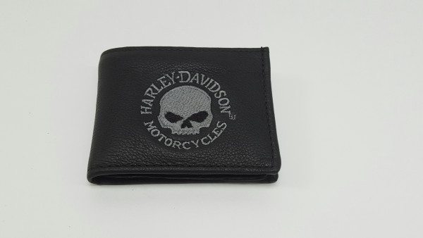 HD Harley Davidson Portemonnaie / EMBROIDERED BILLFOLD W/CHAIN