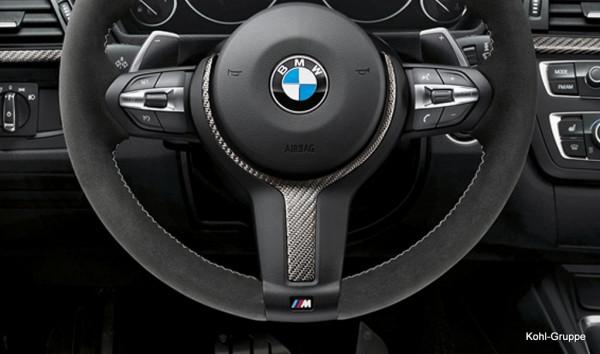 orig. BMW M Performance Lenkrad Abdeckung Carbon Blende 1er 2er 3er 4er X1 X2