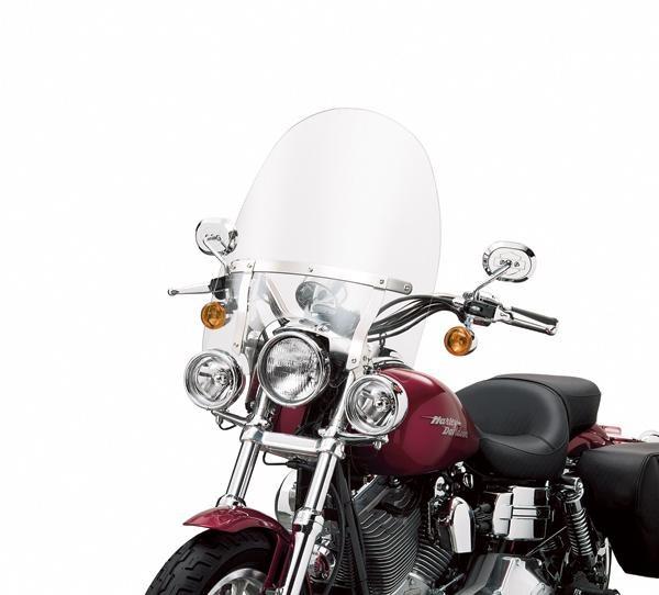 Harley Davidson H-D® Detachables™ Kompakt-Windschutzscheibe für Modelle mit Zusatzbeleuchtung 58865-