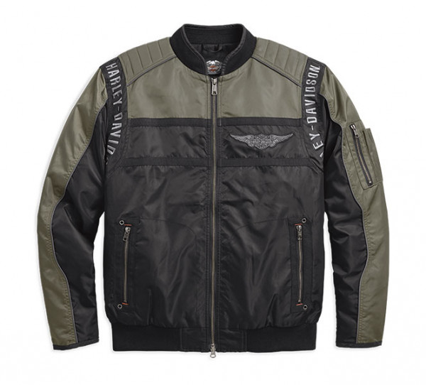 Harley Davidson Mainstreet Nylon Bomber Jacke 98583-17VM Genuine