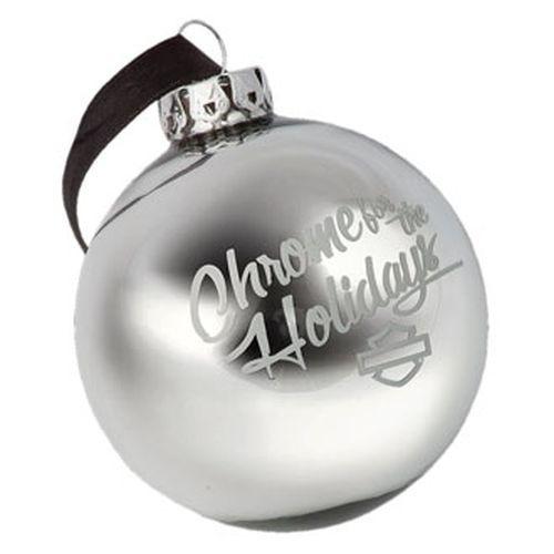 HD Harley Davidson Ball Ornament Christbaumschmuck Chrome HDX99125