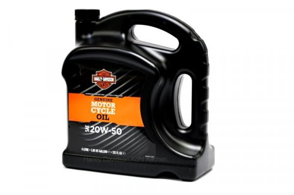 Harley Davidson Original Harley-Davidson® H-D® 360 Motorradöl - SAE 20W50 – 4 Liter. Europa/Lateinam