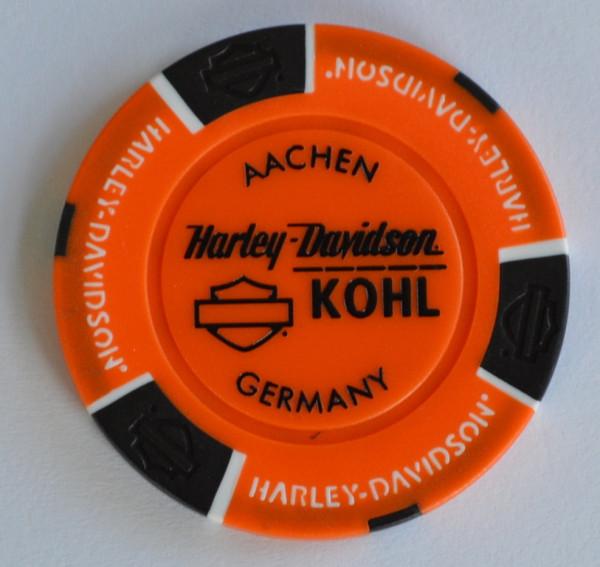 Harley Davidson Dealer Poker Chip orange Kohl Aachen Aachener Dom 1 Sammlerstück