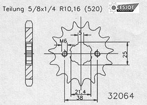 Regina Kettenkit Kit Yamaha XV 125 Virago ´96-00