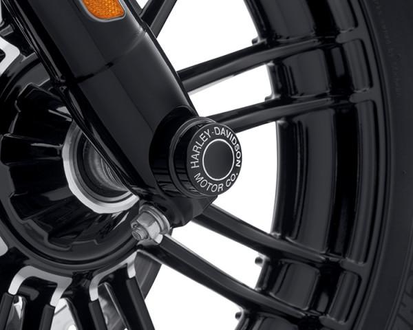 Harley-Davidson H-D MOTOR CO. LOGO MUTTERNKAPPEN FÜR VORDERACHSE SCHWARZGLÄNZEND 43000177