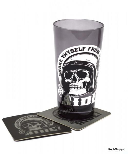 Harley Davidson Skull Rider Tall Glas Set 600ml HDL18781