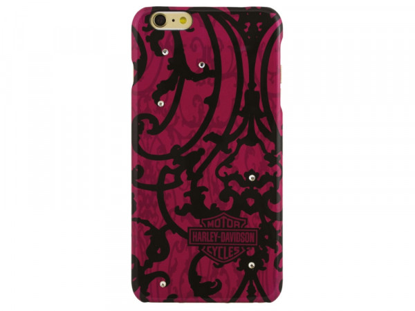 Harley-Davidson Phone Shell - iPhone 6/6S Plus PC Pink / Strass