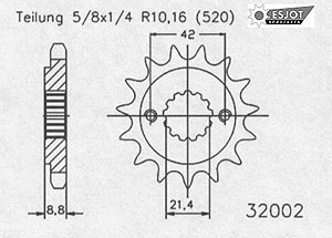 Regina Kettenkit Kit Suzuki GS 500 E ´94-05