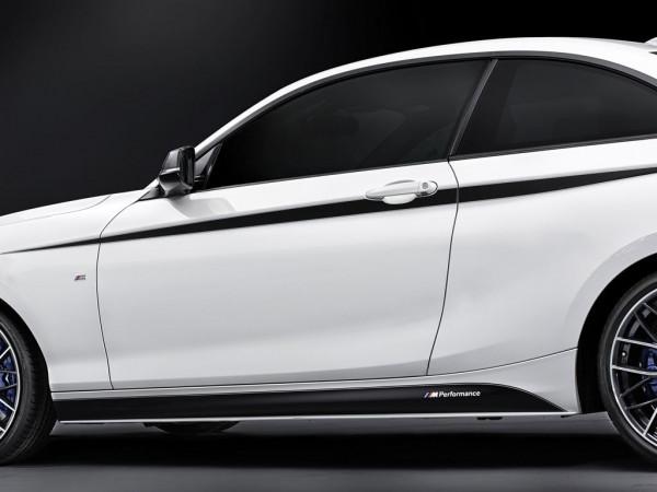 Orig. BMW M Performance Akzentstreifen schwarz silber 1er F21 2er F22 F23