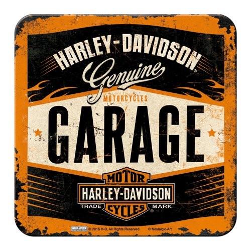 HD Harley Davidson Metal Coaster / Untersetzer 46142