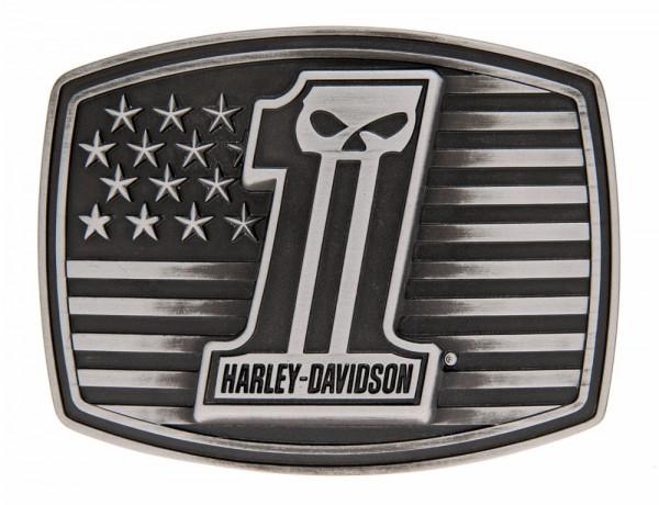 HD Harley-Davidson® Harley-Davidson® Mens Dark Custom Buckle HDMBU10855