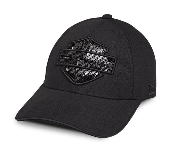 Harley Davidson Tonal Sequin Logo Baseball Cap Kappe Mütze 99574-17VW Damen