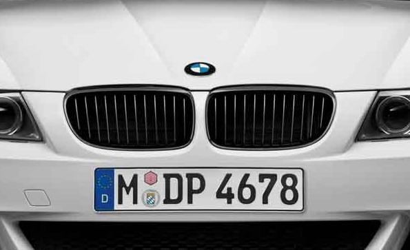 orig. BMW Performance schwarze Nieren Blende Frontklappe links 3er E90 E91
