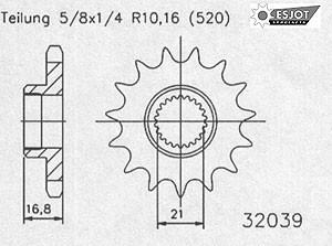 Regina Kettenkit Kit Yamaha. XJ600S ´92- / XJ600N ´94-