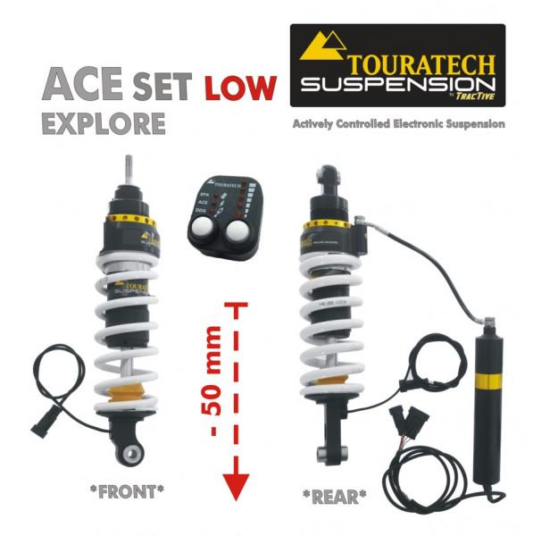 Touratech ACE Suspension Explore SET Tieferlegung -50mm für BMW R1200GS (2004-2013)