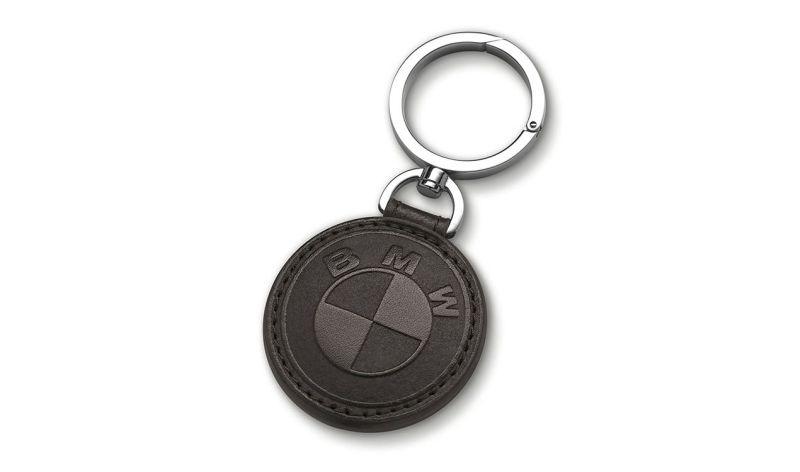 BMW Schlüsselanhänger Leder Braun