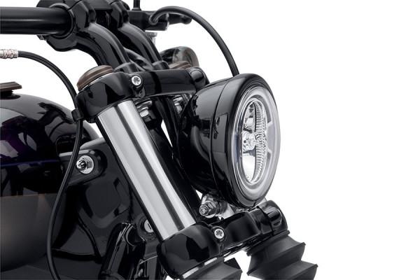 """Harley-Davidson SCHEINWERFER-ZIERRING - SCHWARZGLÄNZEND - 5-3/4"""" SCHEINWERFER 61400574"""